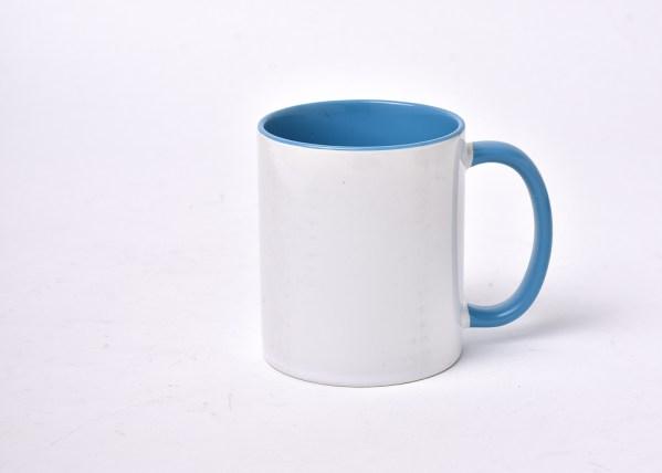 Blue and White Colored Mug