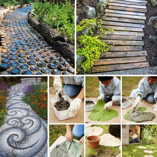 25 Lovely Diy Garden Pathway Ideas Woohome