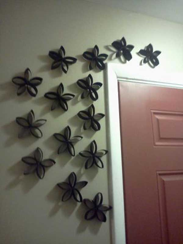 Fully Recycled Diy Make Your Own Wall Art With Toilet Paper Rolls Decor Using