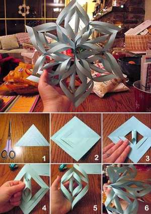 DIY 3D Paper Snowflake | 10 Last Minute DIY Christmas Decorations | Expressing Life