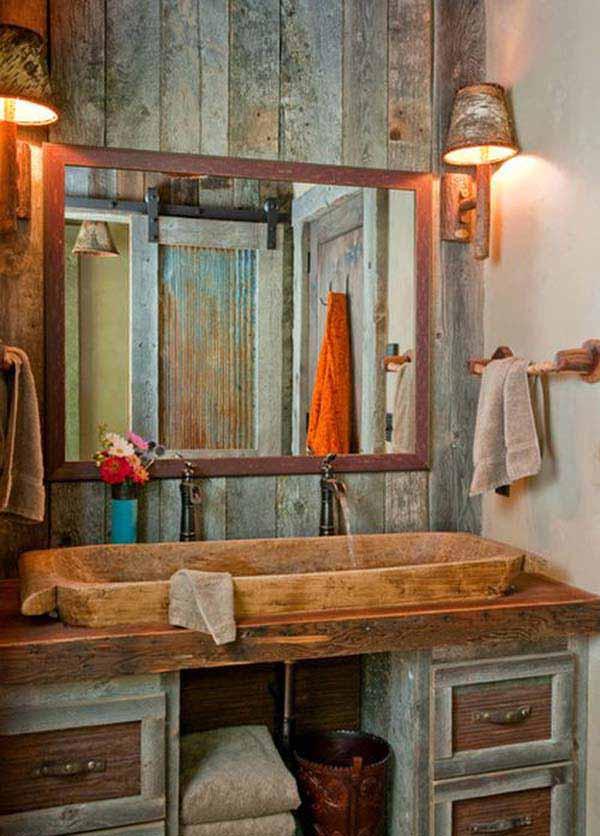 Old Western Bathroom Decor