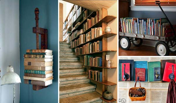 37 Fantastic Ideas How To Decorate Your Home With Books   Amazing     decorate home with books woohome 0