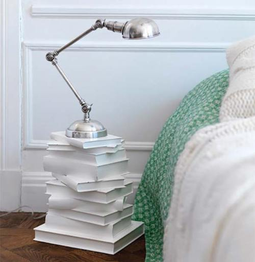 Books as Decoration Book Decor Home Library DIY Project Nightstand Table