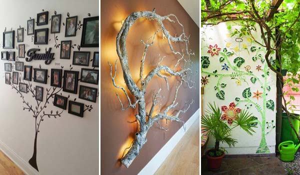 30 Fantastic Wall Tree Decorating Ideas That Will Inspire You     30 Fantastic Wall Tree Decorating Ideas That Will Inspire You