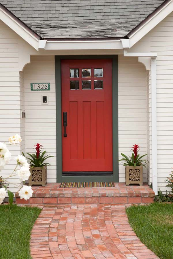 32 Bold And Beautiful Colored Front Doors Amazing Diy