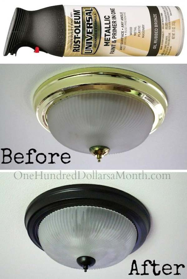 Painting Indoor Light Fixtures