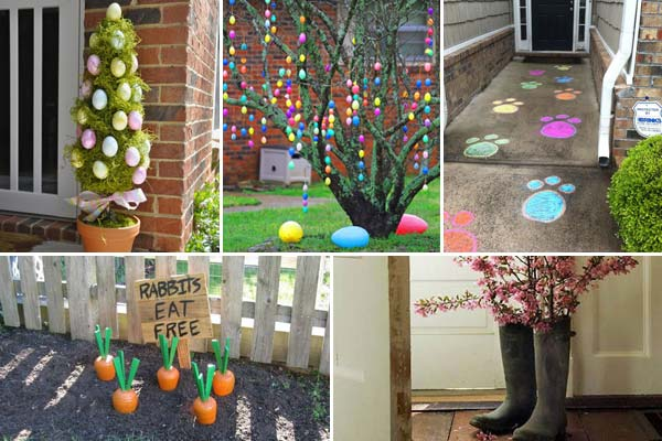 29 Cool DIY Outdoor Easter Decorating Ideas   Amazing DIY  Interior     Easter Outdoor Decor Ideas