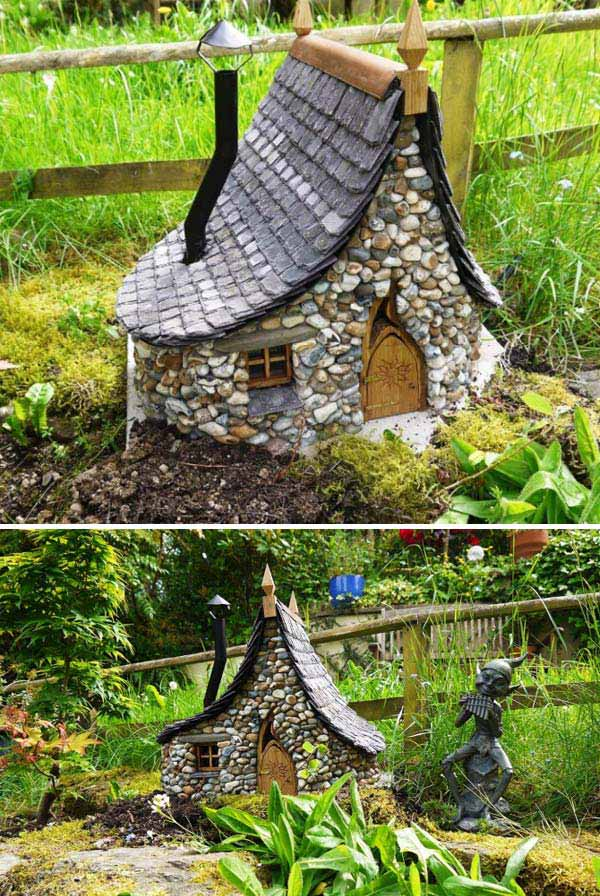 17 Cutest Miniature Stone Houses To Beautify Garden This