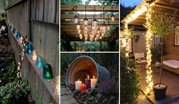 ideas adding diy backyard lighting
