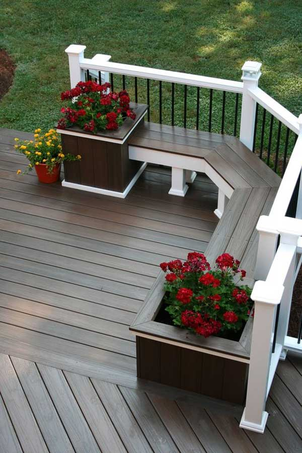 Deck Flower Pots