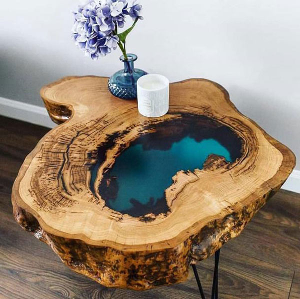 The Most Fabulous 15 Epoxy Resin Wood Tables Amazing DIY Interior Amp Home Design