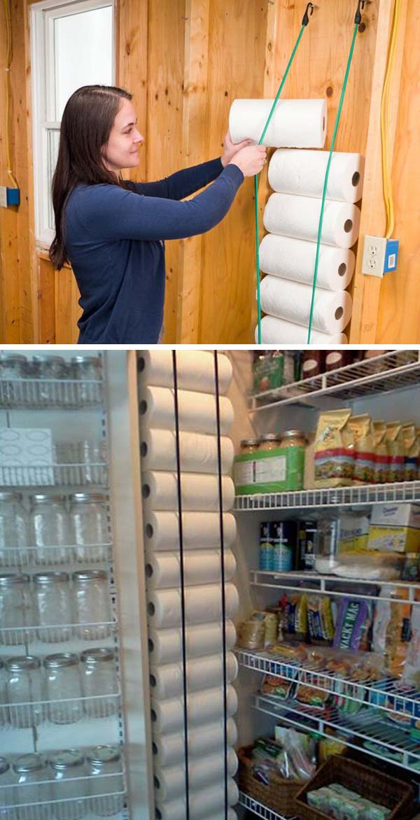 organize pantry with hanging storage ideas
