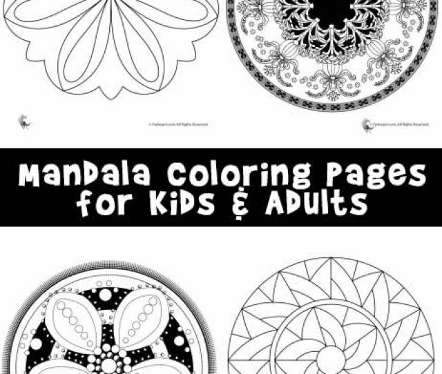Mandala Coloring Pages For Kids Adults Woo Jr Kids Activities