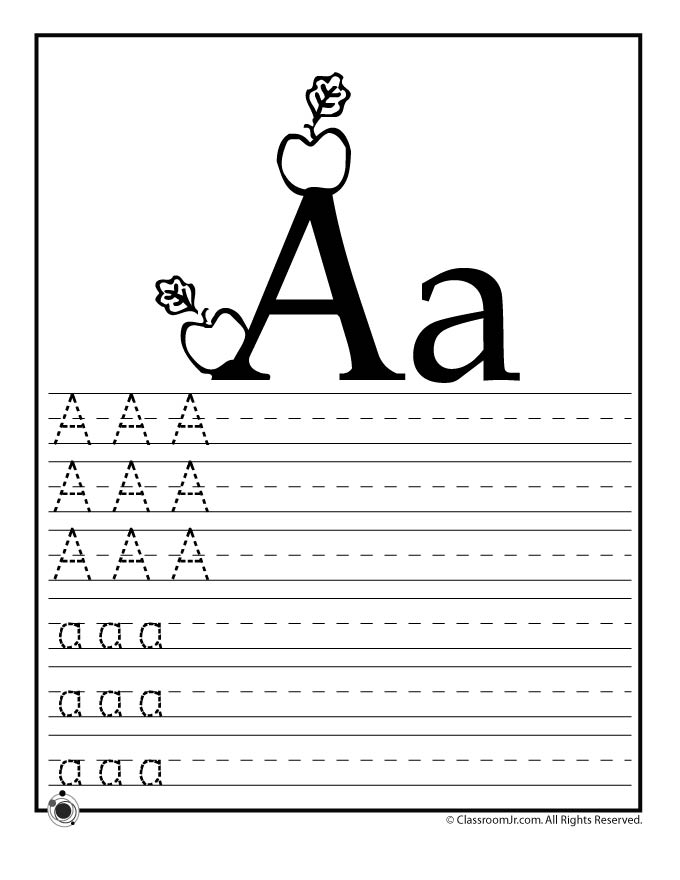 Learning Abc S Worksheets Woo Jr Kids Activities