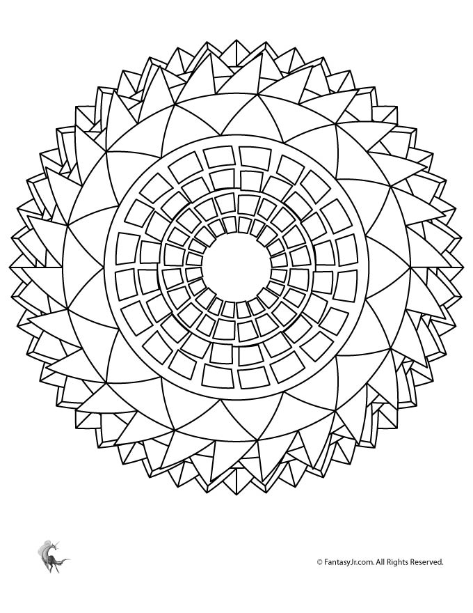 sunflower mandala coloring page woo jr kids activities