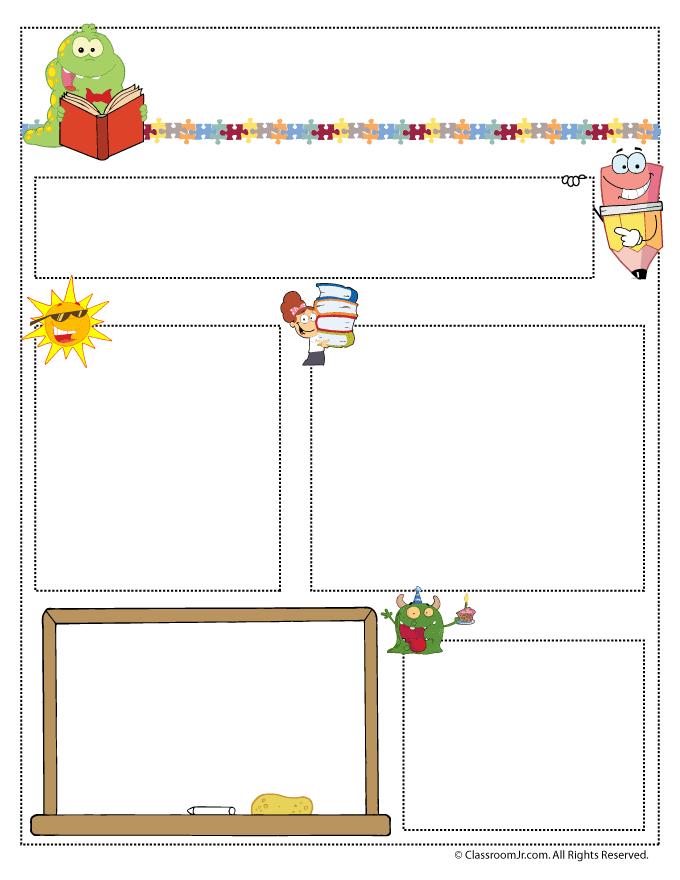 Teacher Newsletter Templates Woo Jr Kids Activities