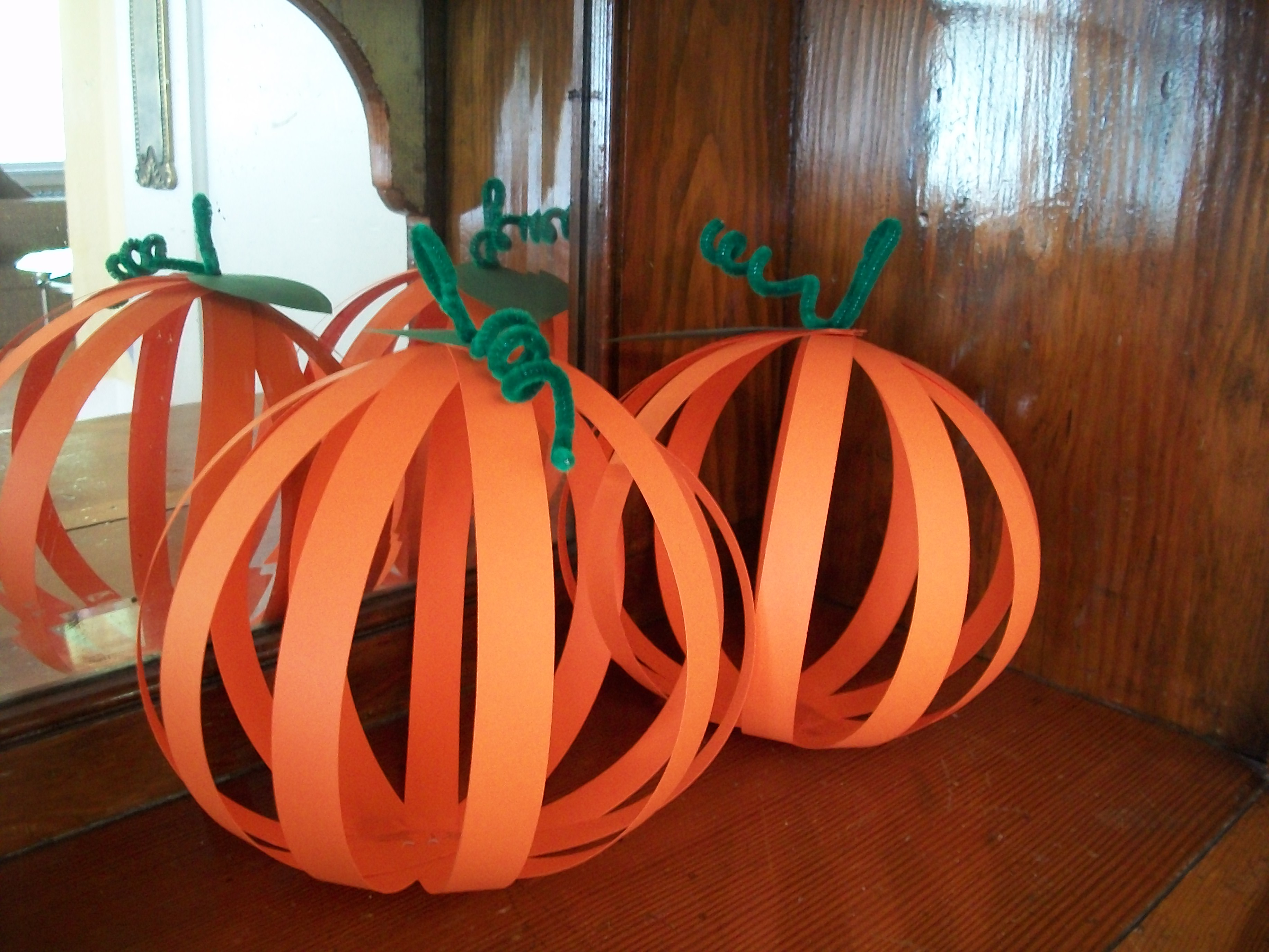 Simple Paper Pumpkin Craft For Kids