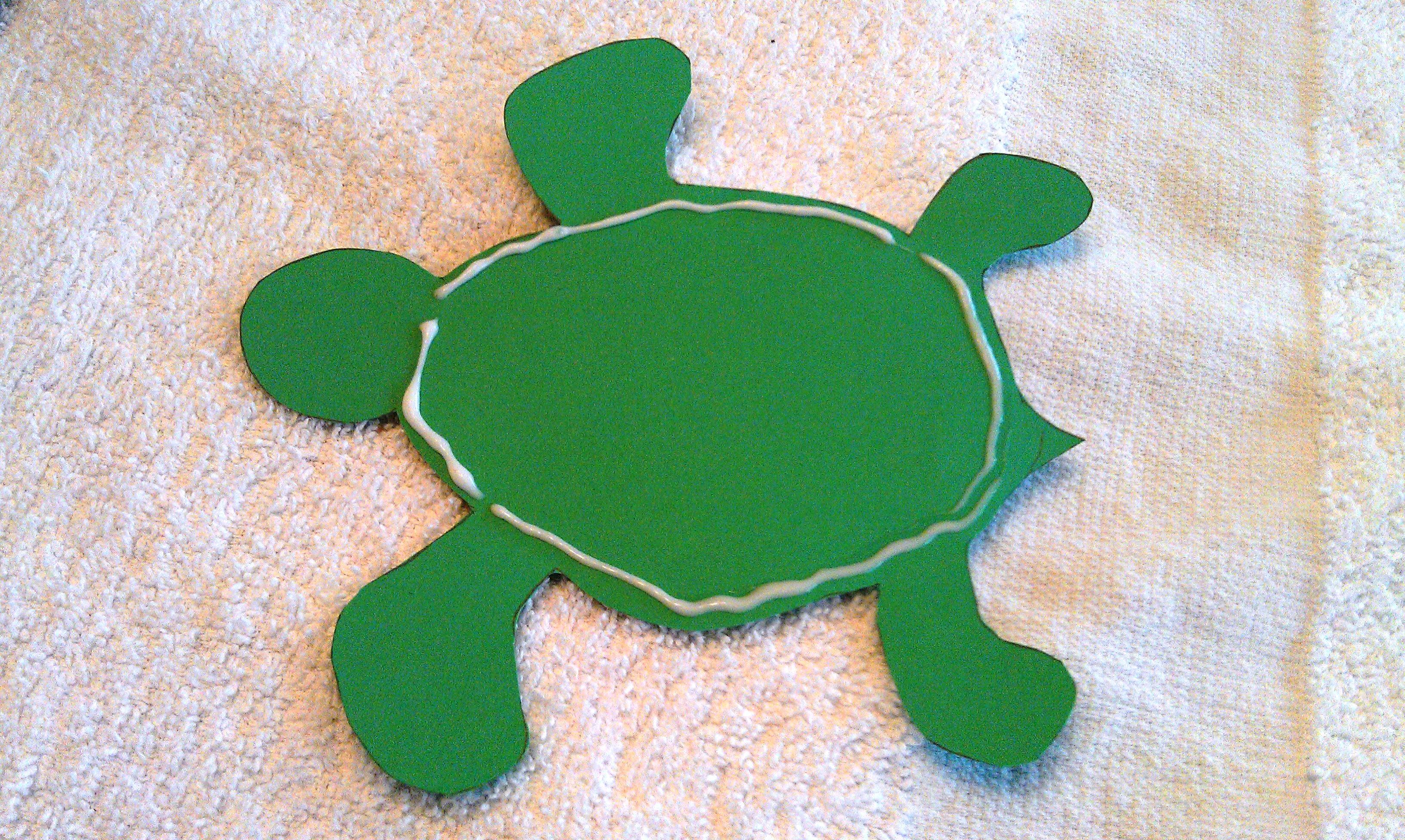 Glue The 3d Turtle Craft