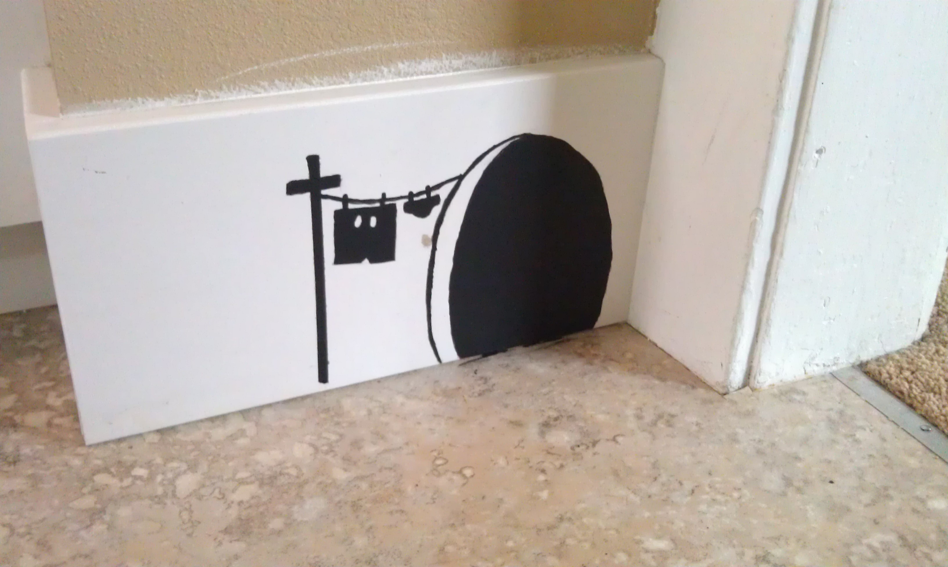Mouse Hole Painted On Molding