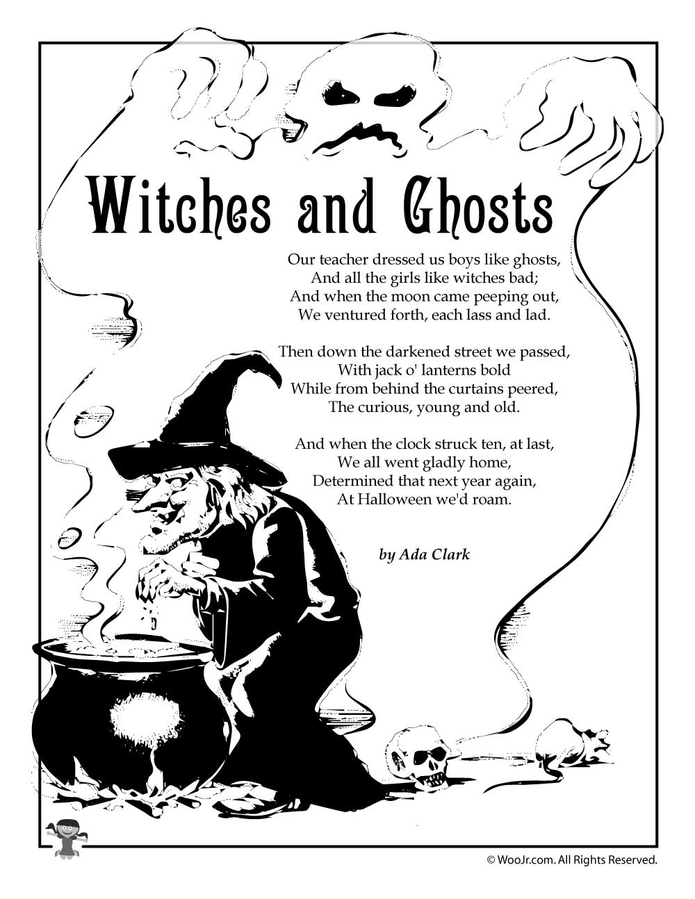 Witches And Ghosts By Ada Clark Woo Jr Kids Activities