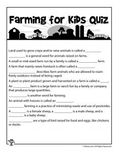 Learn About Farming An Elementary Lesson Plan Woo Jr