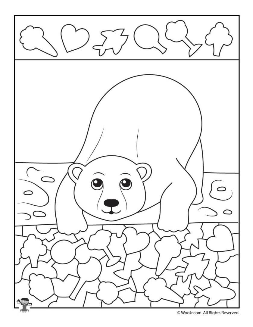 polar bear i spy printable worksheet  woo! jr. kids