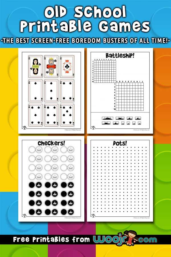 Old School Printable Games Woo Jr Kids Activities
