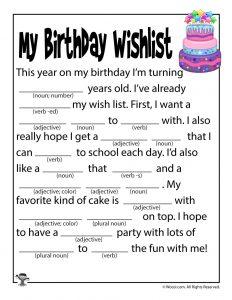 Birthday Mad Libs For Kids Woo Jr Kids Activities