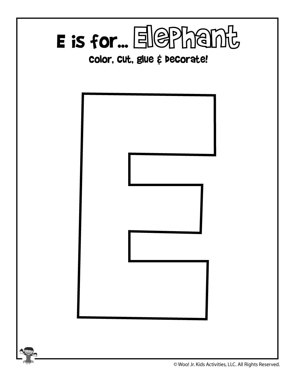 Printable Letter E Craft Woo Jr Kids Activities