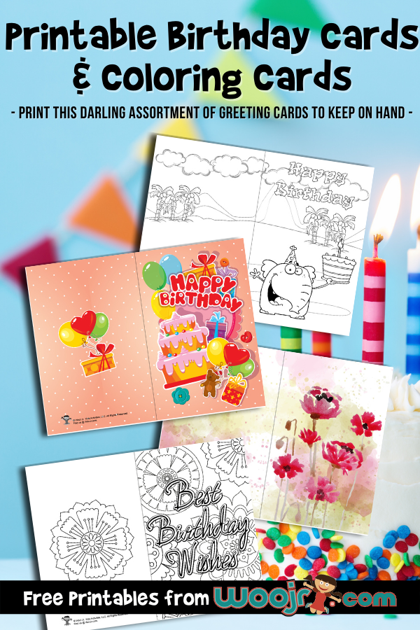 Printable Birthday Cards And Coloring Cards Woo Jr Kids Activities