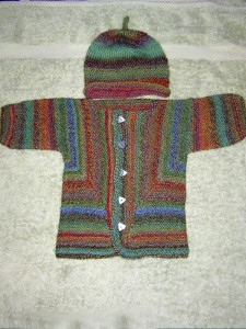 Baby Surprise Jacket and Baby Beanie