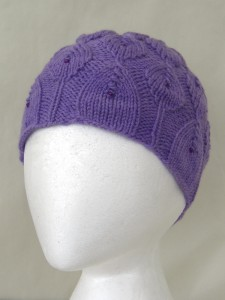 "Tretta Hat  ""Crocus"" in Hug yarn from The Yarn Yard"