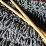 Long stitch scarf in Corespun yarn