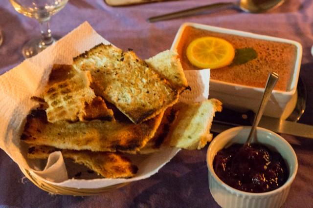 Pate, Melba Toast and Cranberry and Caramelised Onion Chutney