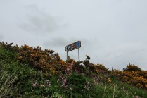 Carn Liath roadsign on the A9 above the walk to the broch