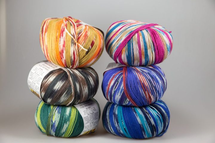 "Sock yarn with silk. An eBay ""win"""