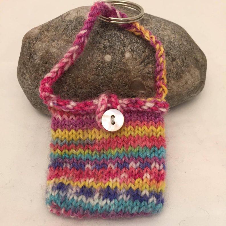 11) Little knitted bag keyring