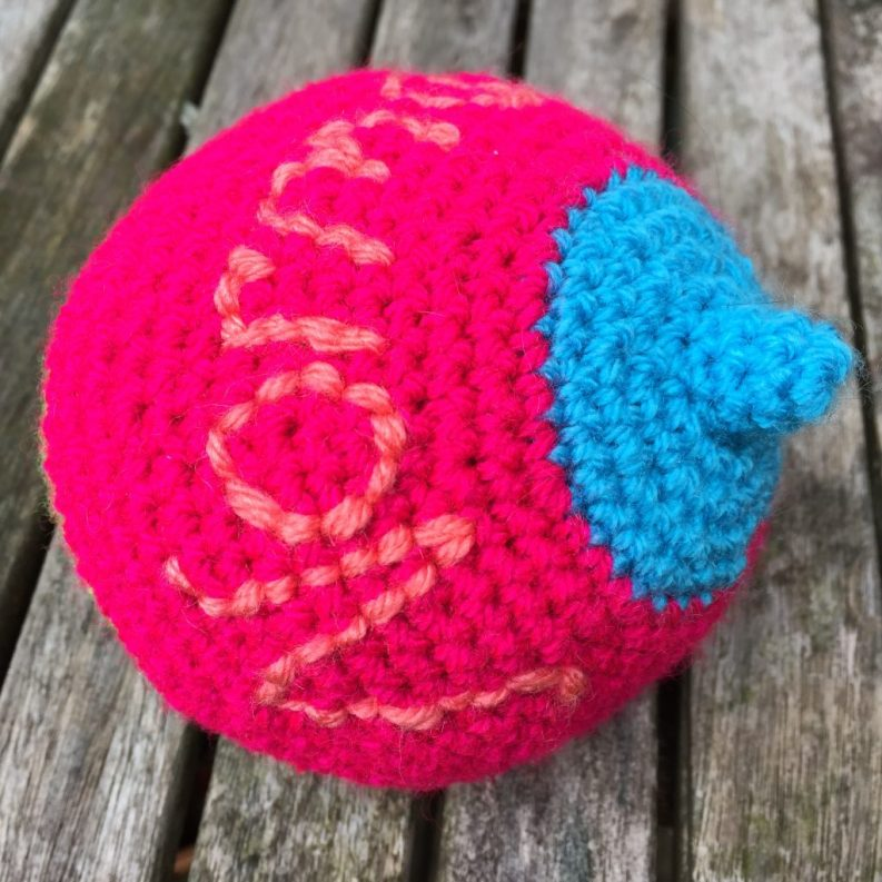 Woolly Knockers for the Breastfeeding team in Portsmouth. June 2017