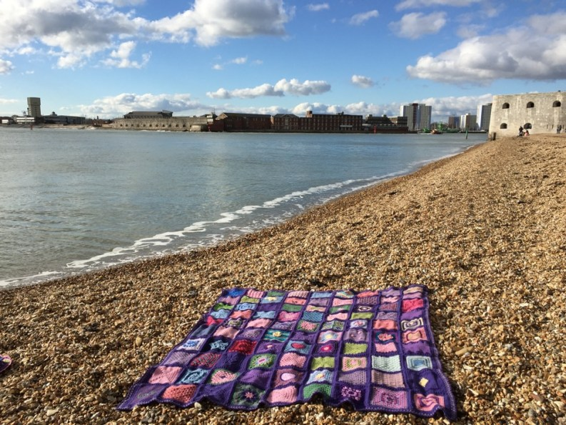 Auction Blanket for the Candlelighters Charity in memory of Joseph. March 2018