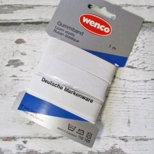Gummiband Wenco 18mm 1m weiß 60Grad-Wäsche - Woolnerd