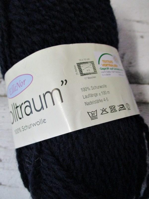 Wolltraum ElleNor Schurwolle Farbe 890 dunkelblau - Woolnerd