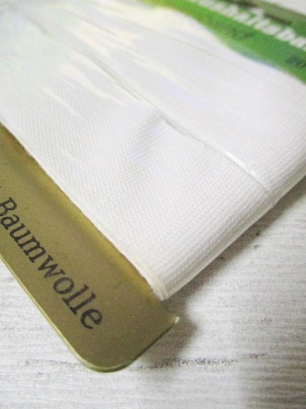 Haushaltsband Zwirnband GOLF Baumwolle weiß 20mm - Woolnerd