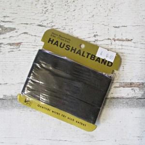 Haushaltsband binderband schwarz Baumwolle 17mm 5m - Woolnerd