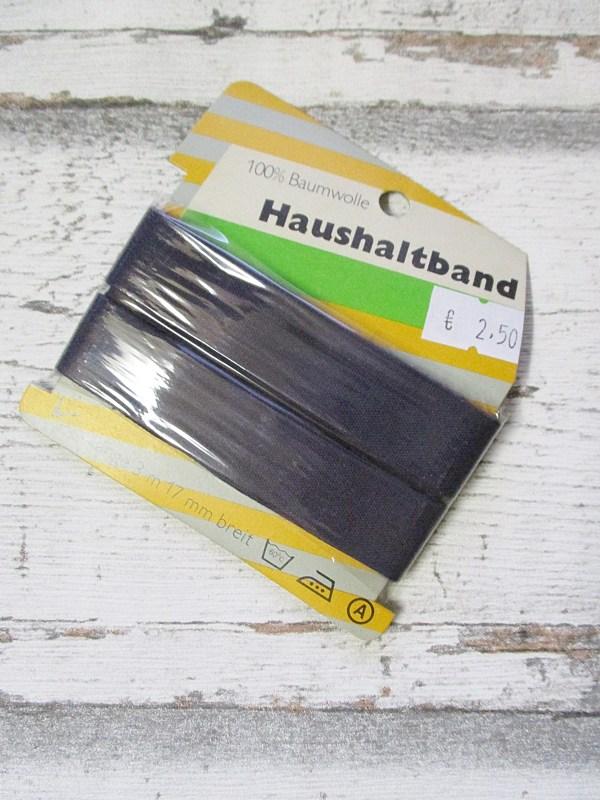 Haushaltsband von Binderband dunkelblau Baumwolle 17mm - Woolnerd
