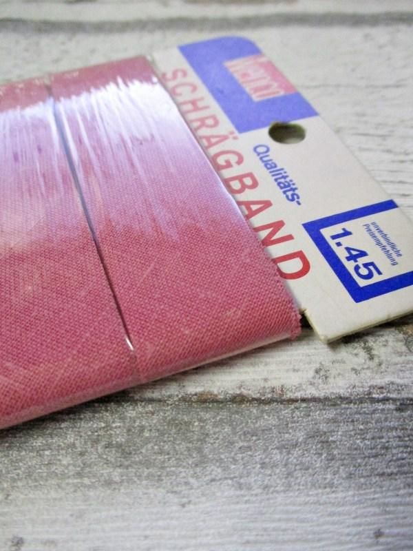 Schrägband Wenco Baumwolle 24mm 5m nicht vorgefalzt ungefalzt rosa - Woolnerd