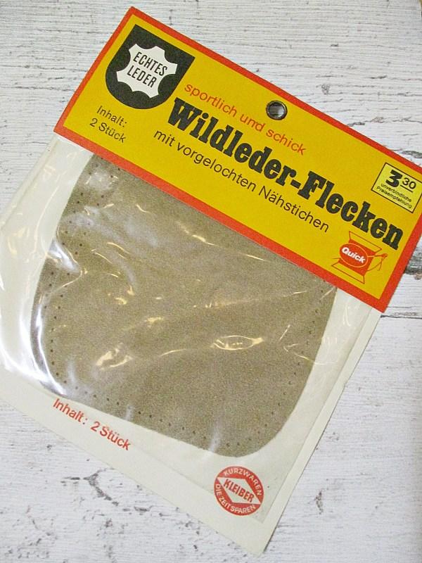 Flicken Wildleder vorgelocht Quick Kleiber hellbraun - Woolnerd
