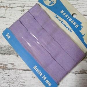 Nahtband Drei_Lilien Baumwolle fliederfarben 14mm 5m - Woolnerd