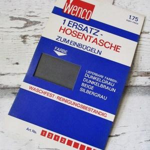 Ersatz-Hosentasche Einbügeln Dunkelgrau Wenco - Woolnerd