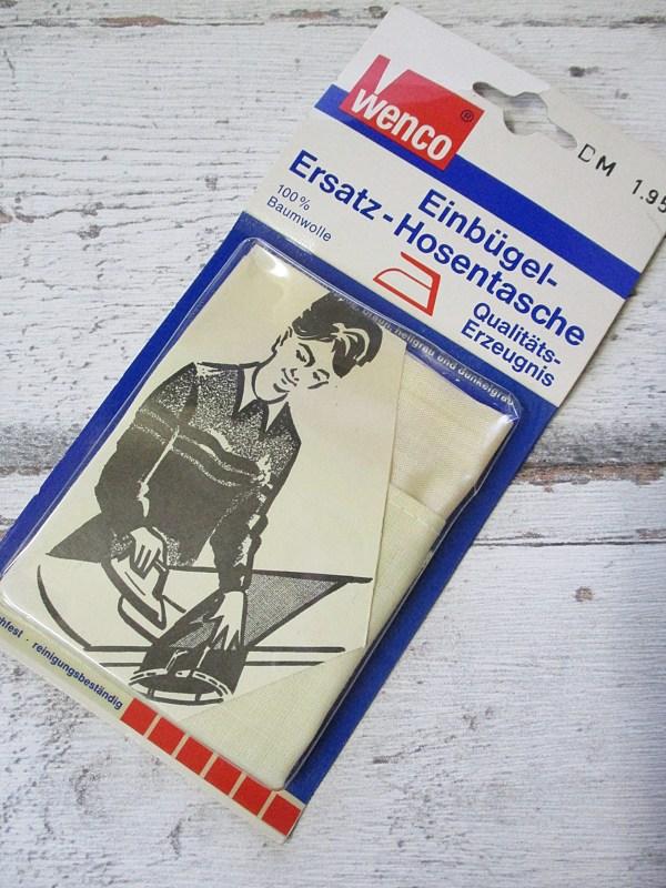 Ersatz-Hosentasche Einbügeln Wenco beige - Woolnerd