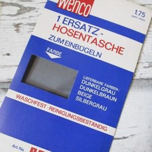 Ersatz-Hosentasche grau silbrig Wenco - Woolnerd